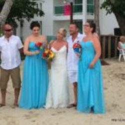 Canadian wedding at Dominican Republic beach
